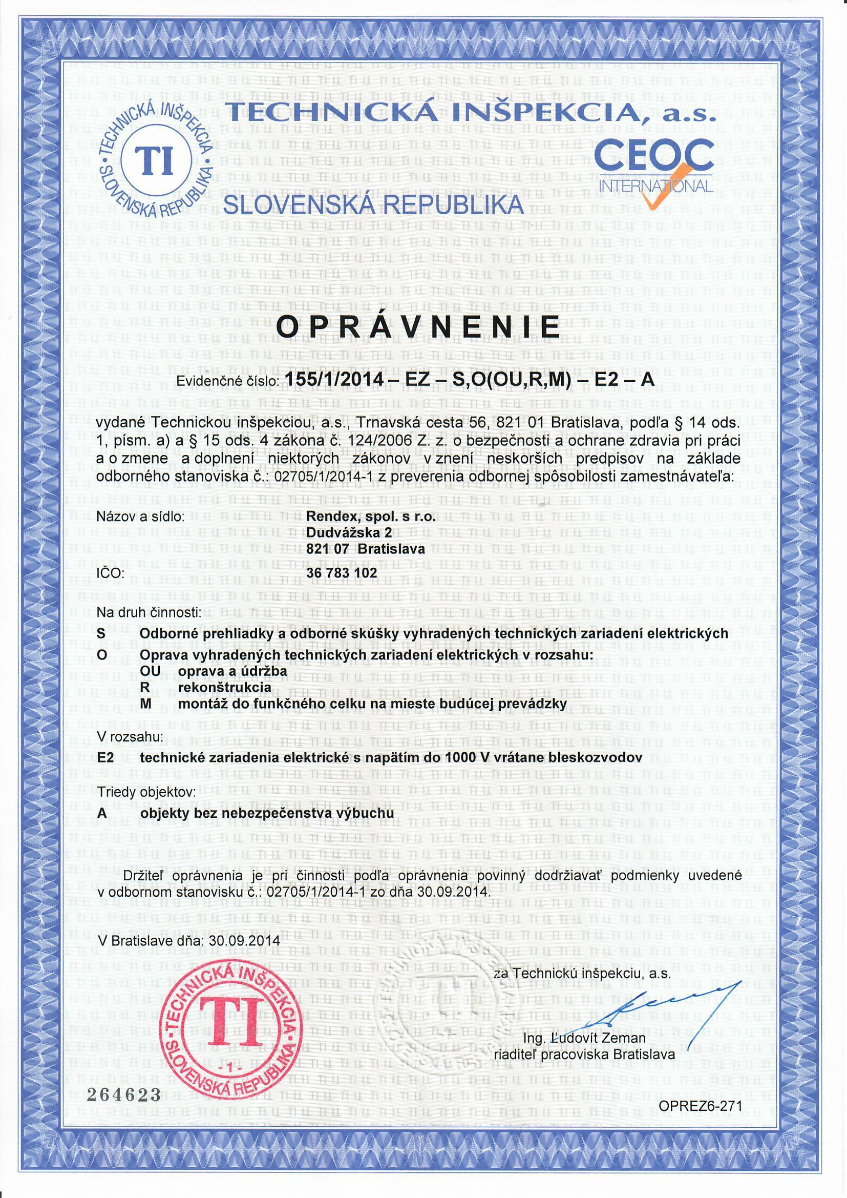 rendex.sk/opravnenie-elektroinstalacia-revizie